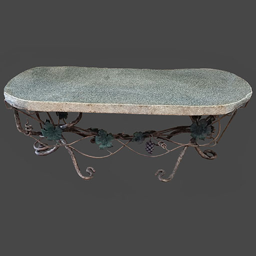 Granite Bench With Iron Base